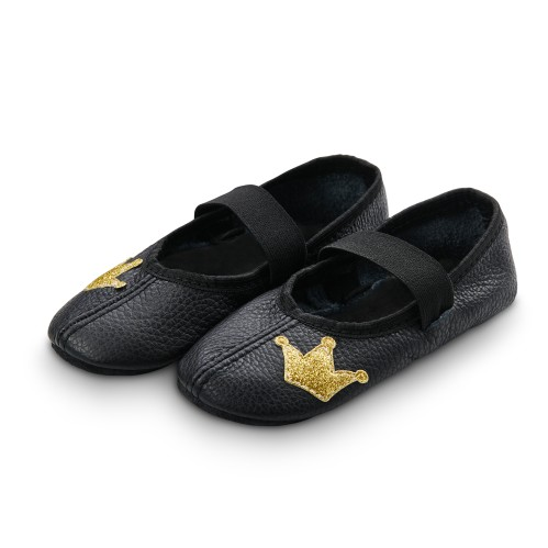 Dance slippers (black) with shiny crown