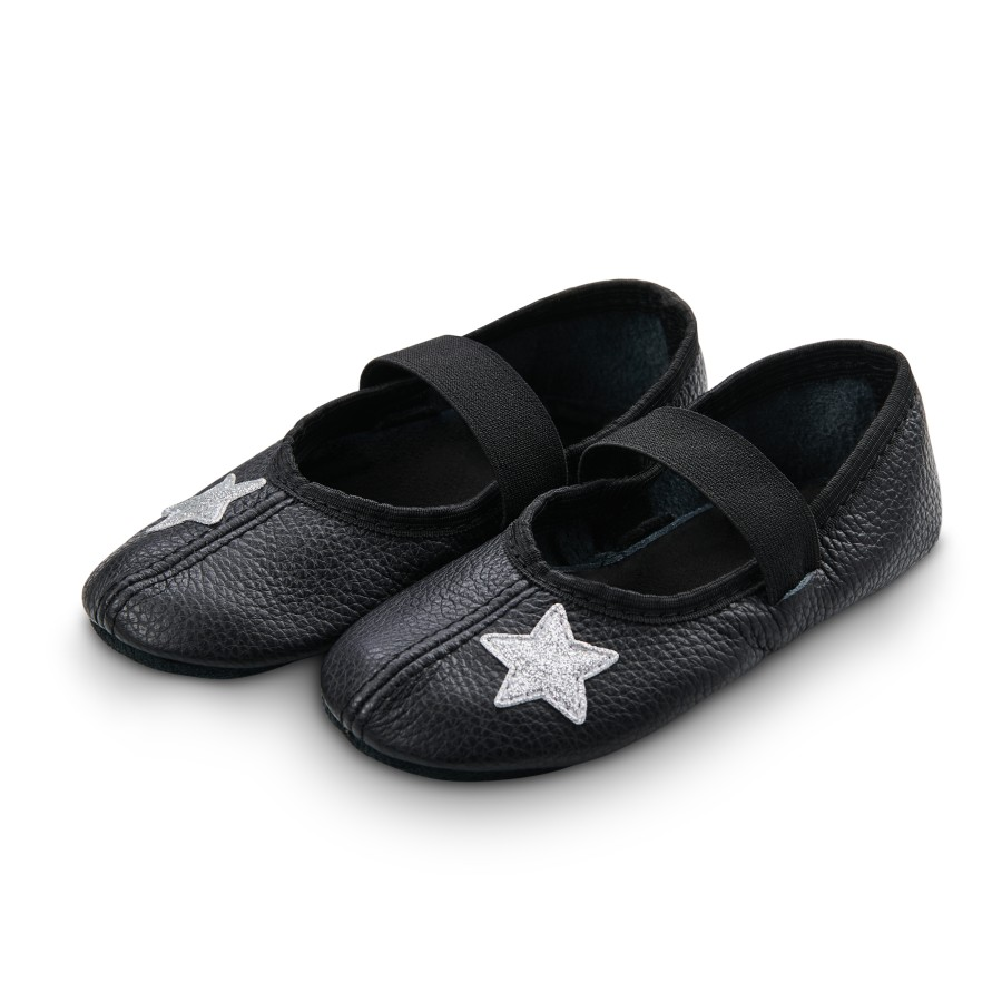 Dance slippers (white) with shiny stars